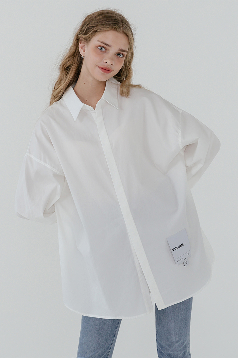 LV [남/여] Overfit hidden color shirt_white