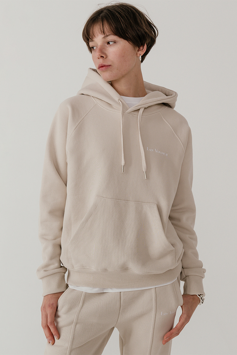 LV Essential logo hood_light beige