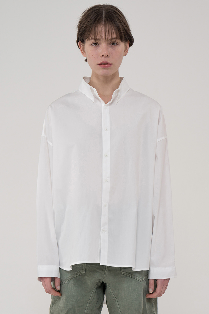 Overfit vestee shirt_white
