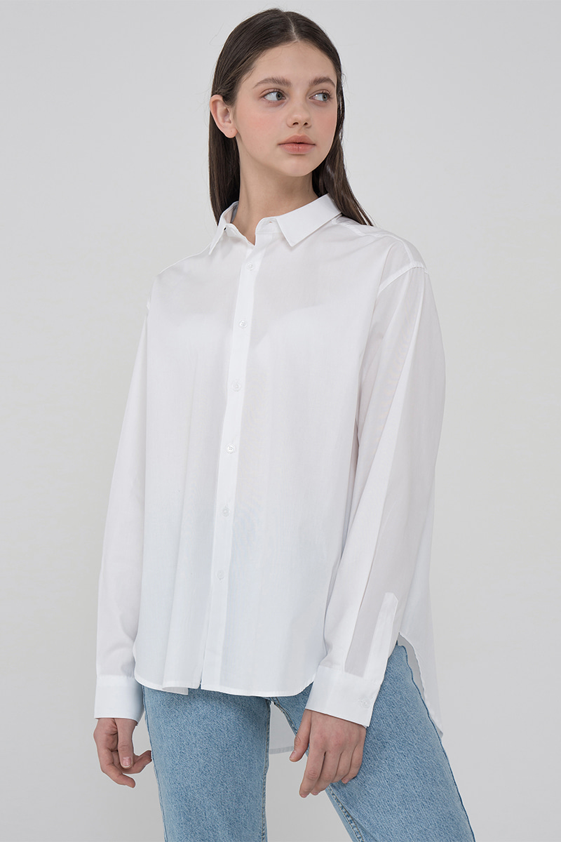 Overfit balance color shirt_white