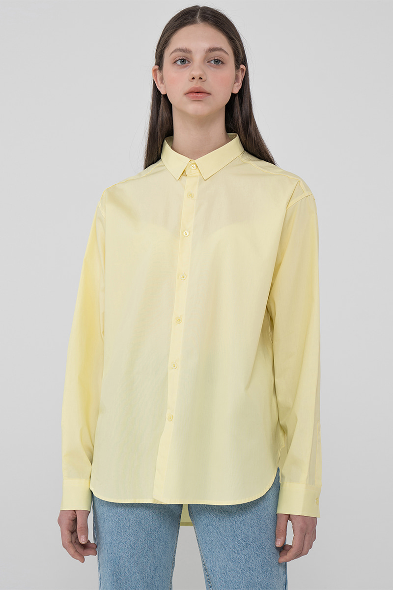 Overfit balance color shirt_yellow