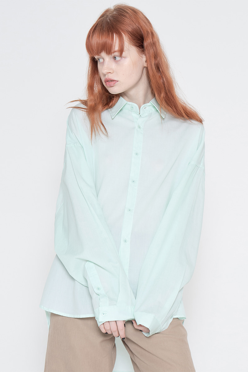 Overfit pigment washing shirt_mint