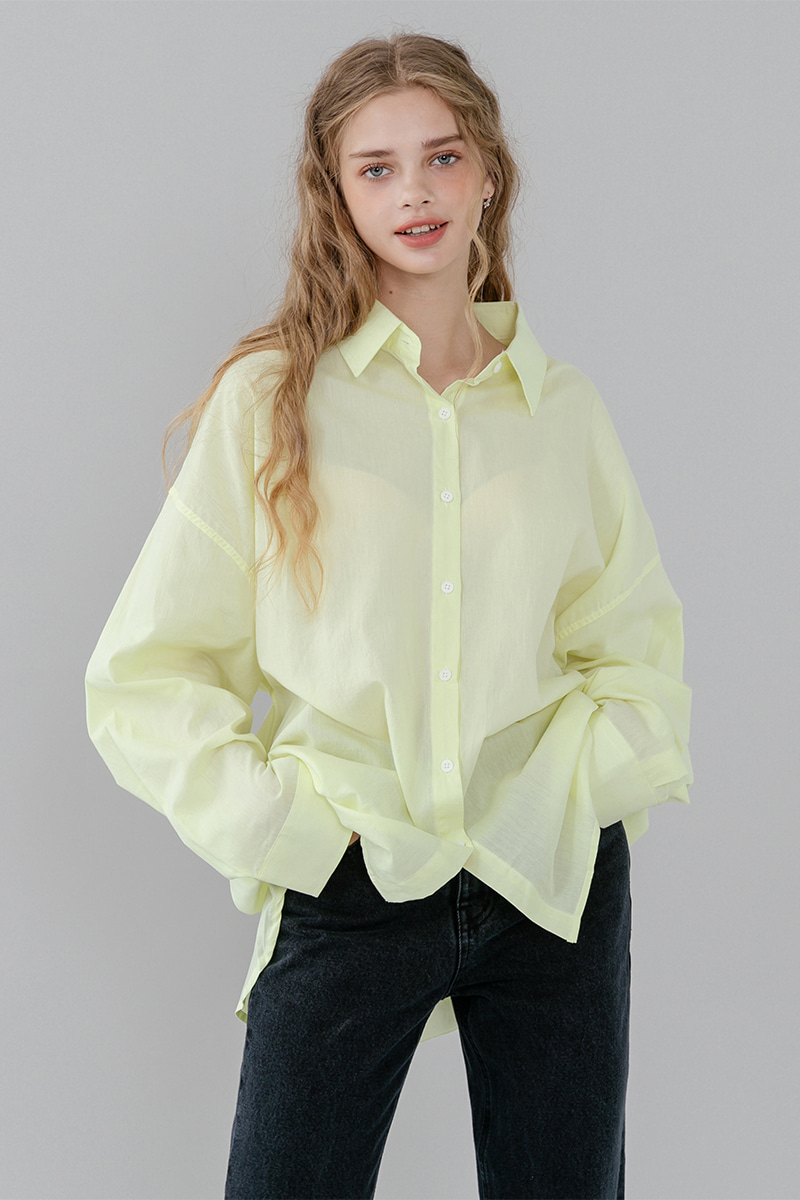 LV New unbalance color shirt_yellow