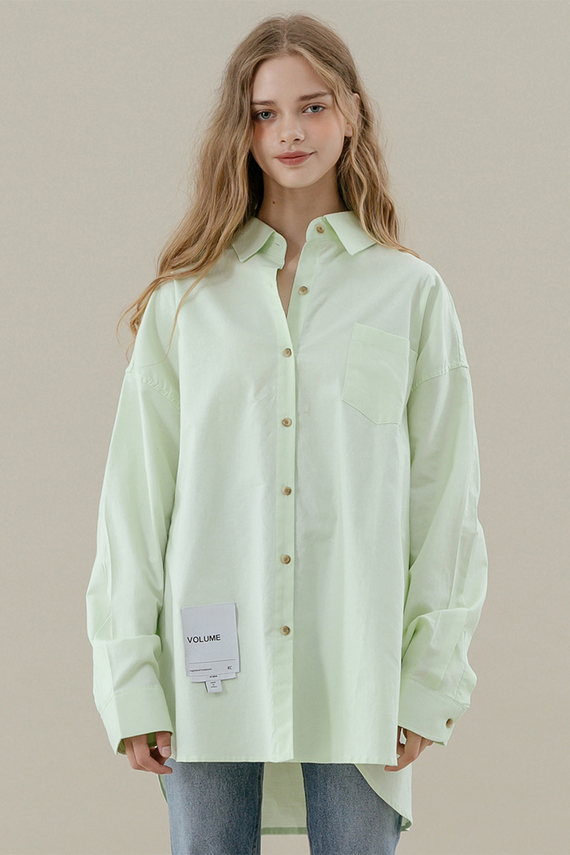 LV Overfit oxford shirt_neon