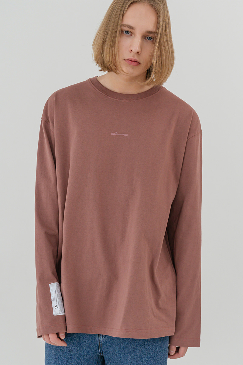 V2 Overfit long sleeve T-shirt_pink