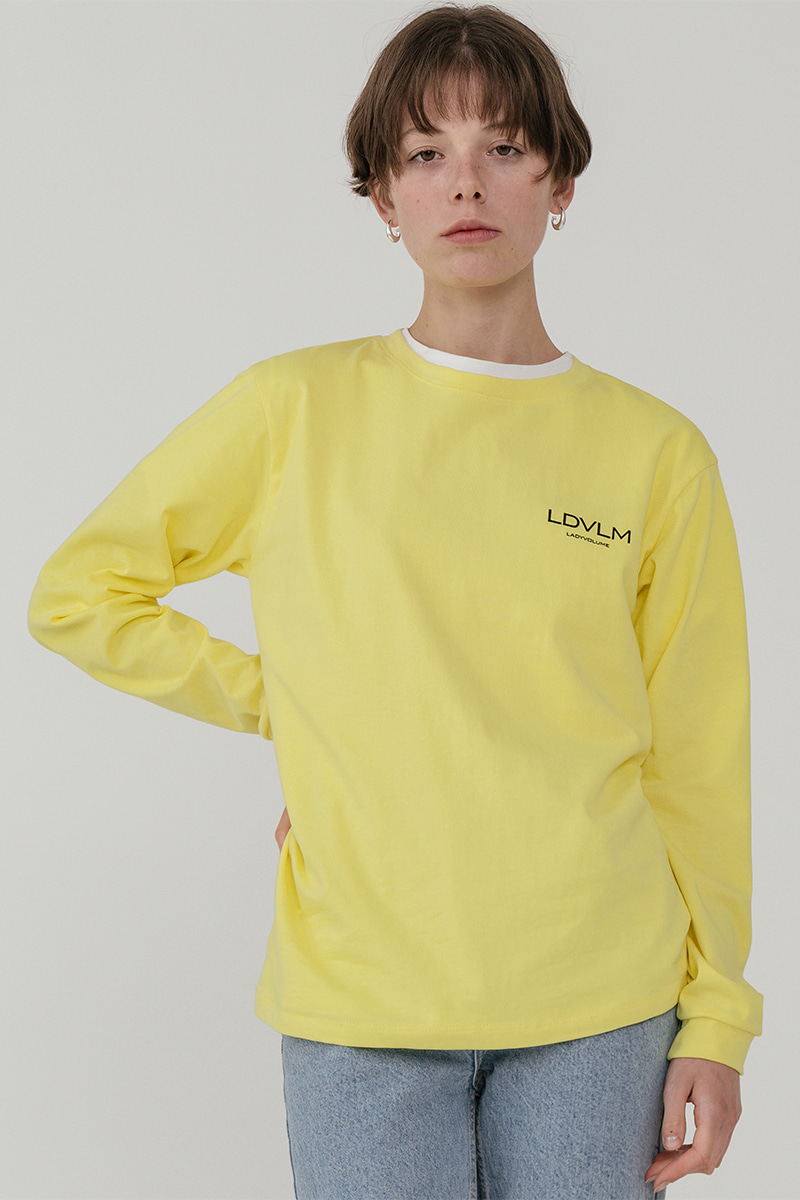 LV Ladyvolume logo long sleeve T-shirt_yellow