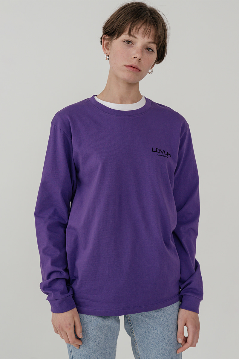 LV Ladyvolume logo long sleeve T-shirt_purple