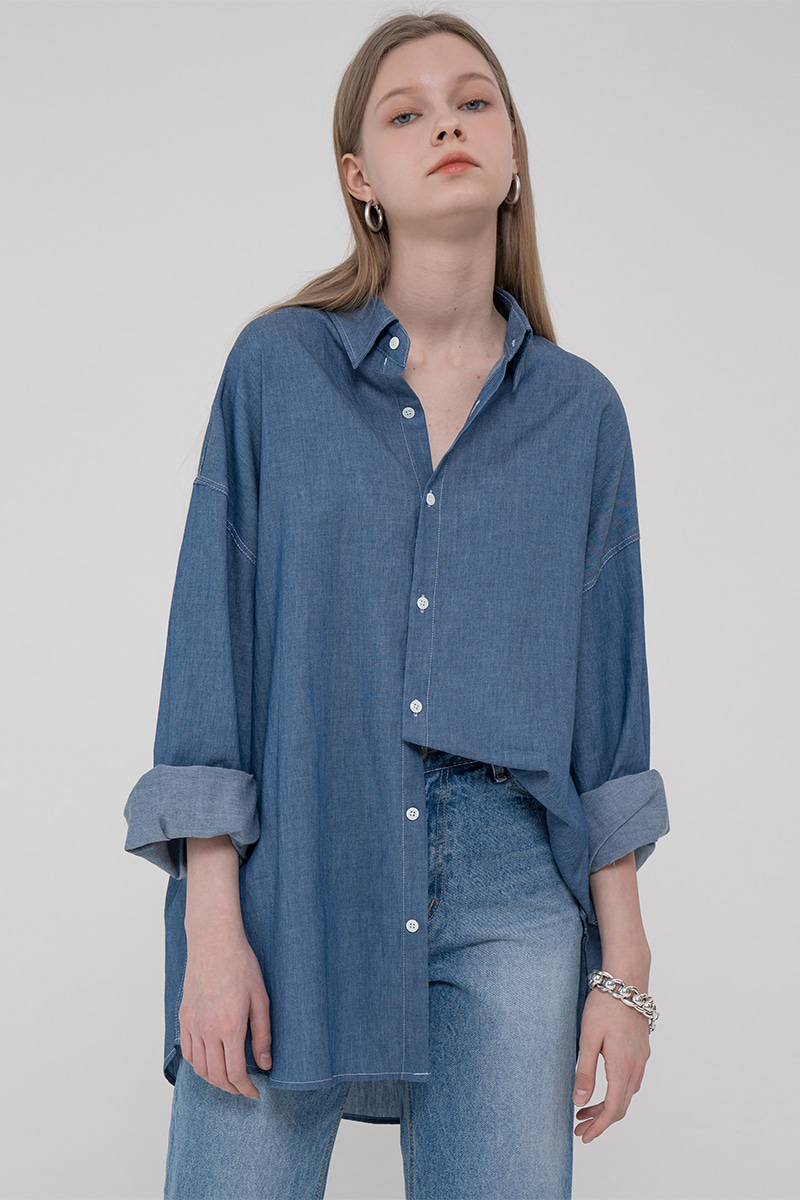 Overfit denim shirt_blue
