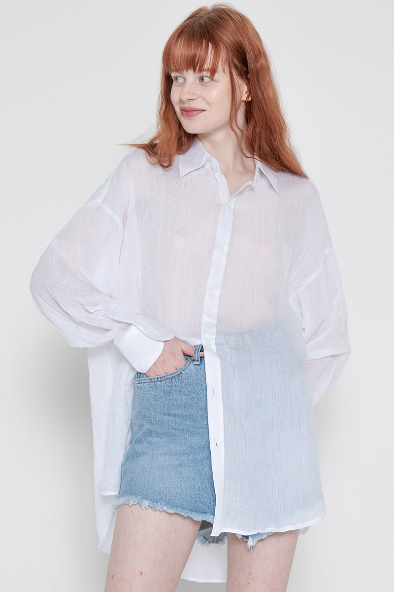 Long natural shirt_white