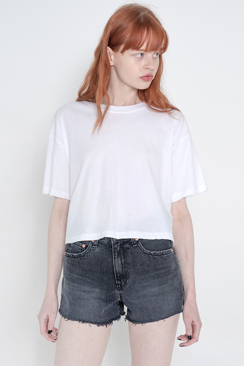 Solid crop T-shirt_white