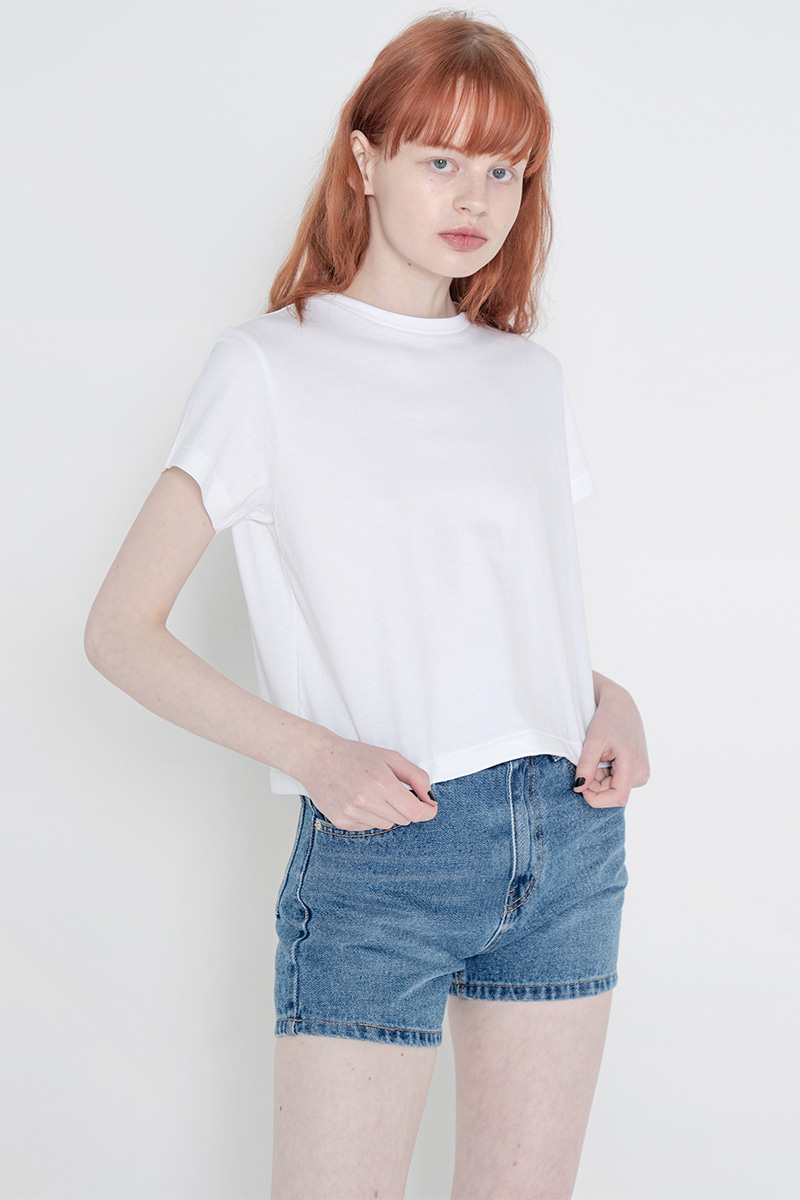 Pig crop T-shirt_white