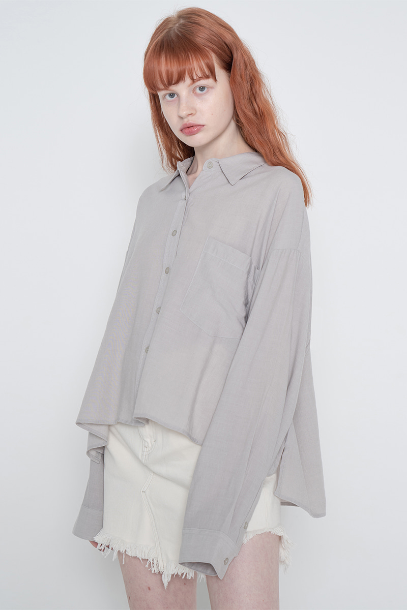 Side unbalance shirt_gray