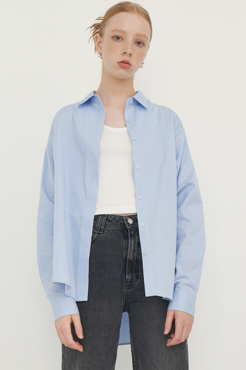 SOLID COLOR SHIRT_SKY BLUE