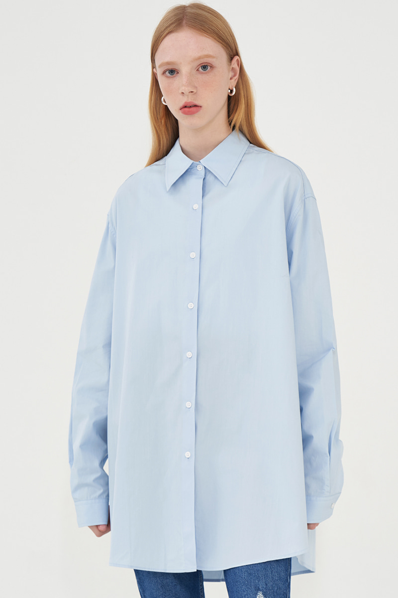 OVERFIT SOFT SHIRT_SKYBLUE
