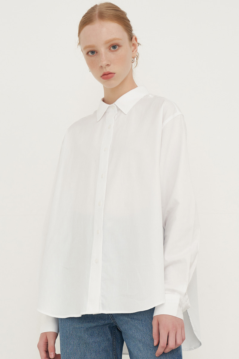 SOLID COLOR SHIRT_WHITE